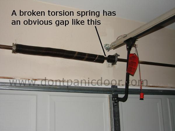 Broken Garage Door Springs Description Information Price Estimates